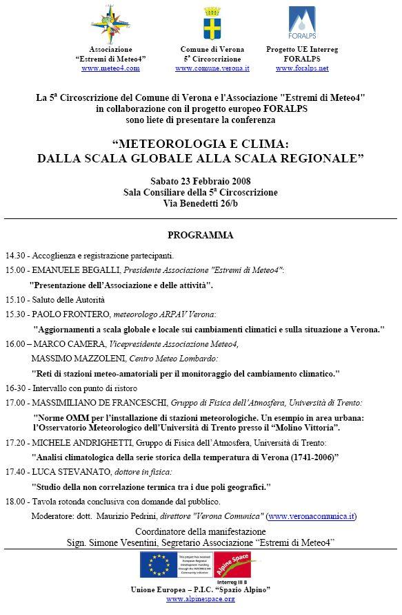 Locandina conferenza 23 febbraio 2008